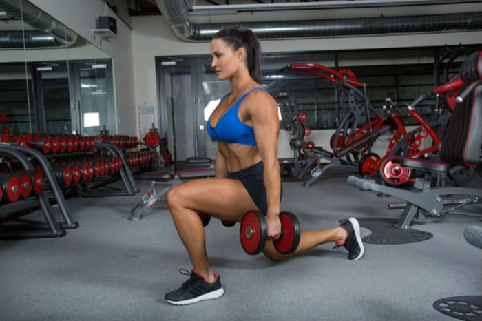 Dumbbell Lunge Workout