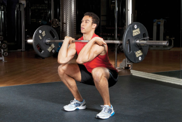 Front squats workout